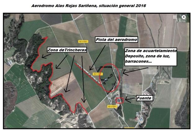 Mapa aeródromo Alas Rojas Sariñena