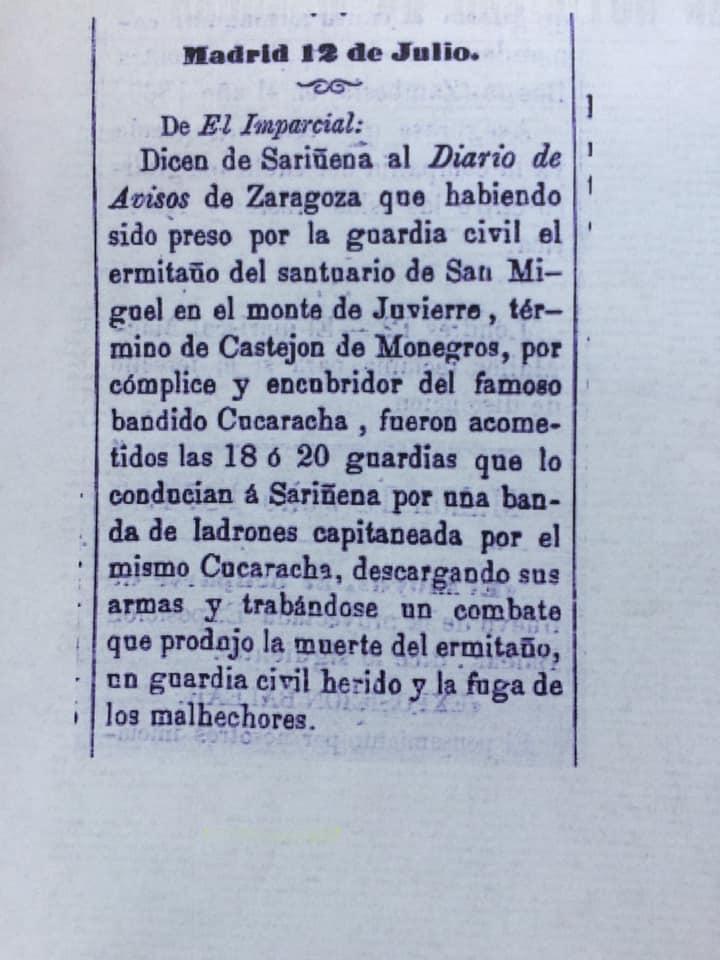 Noticiero Menorca Bandido Cucaracha