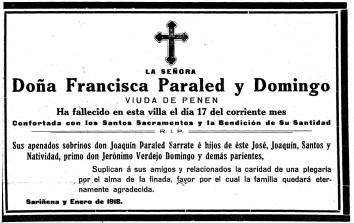 Francisca RIP