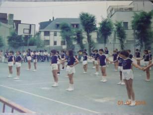 Gimnasia en el santa Cristina
