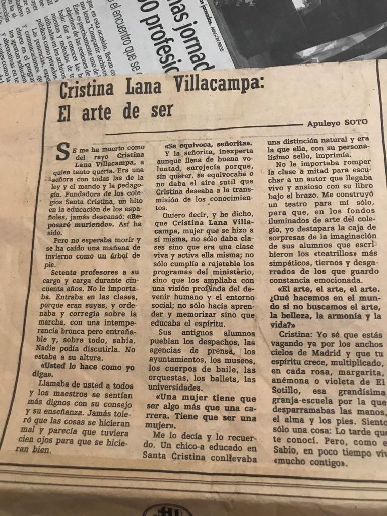 Cristina Lana Villacvampa, El arte de ser