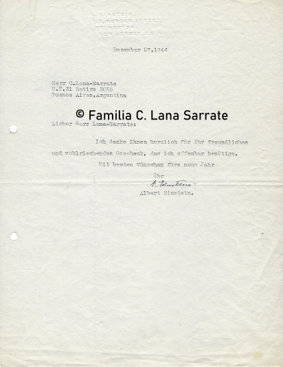 Casimiro-Einstein carta de 1946