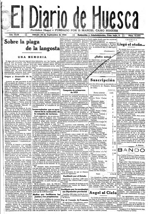 Plaga Langosta Diario Huesca